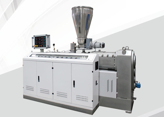 Conical Twin Screw Extruder Machine , Double Screw Extruder 250kg/H Capacity